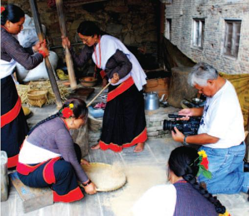 Image of filming a documentary in Nepal by Channel NewsAsia