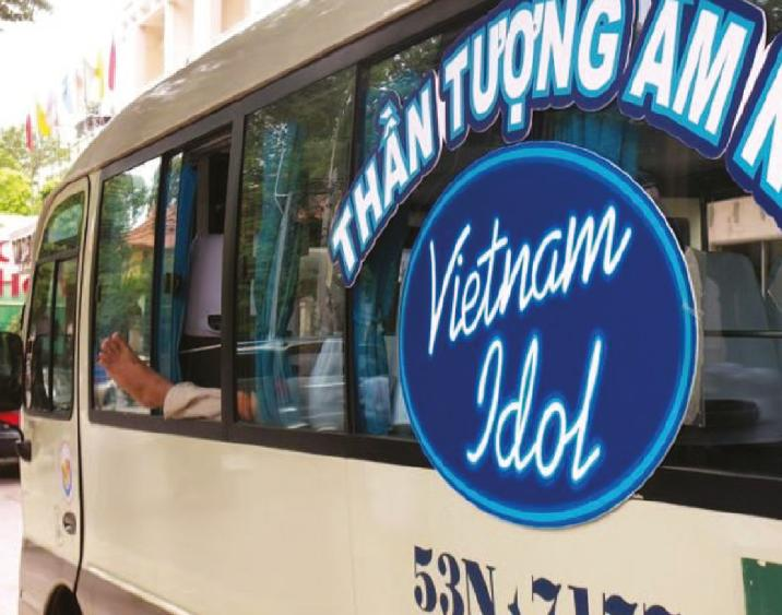 Vietnam Idol advert on side of a bus used in the Multiple Markets article in Issue 2 2012 of The Channel magazine