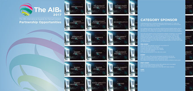 The AIBs 2017 – open for sponsorship