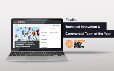 """RUPTLY Nominated for Technical Innovation of the Year with """"Ruptly Live"""" and Best Commercial Team by the DRUM ONLINE MEDIA AWARDS"""