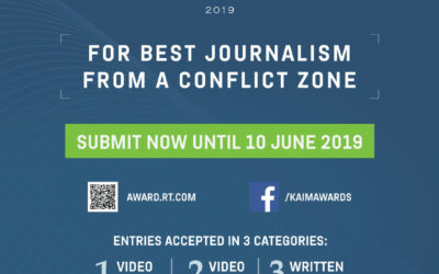 War Journalism Competition open for submissions: RT'S KHALED ALKHATEB INTL MEMORIAL AWARDS 2019