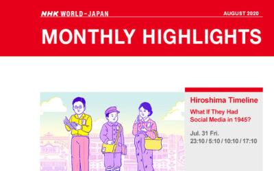 NHK WORLD August programme highlights