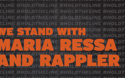 #HoldTheLine campaign supporting Maria Ressa launched