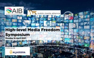 AIB PMA Media Freedom Symposium | 19 April 2021